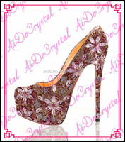 Aidocrystal design fashion design woman high heel shoes women sandals diamond platform shoes high heels