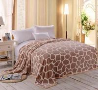 Cheap Flannel Blanket Folded Edge Stitch Coral Fleece Blanket Wholesale