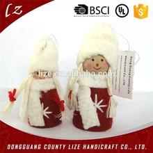 2015 del árbol de la tela adorno cuelgue artes y decoración artesanía navidad masha precio de venta al por mayor sentía muñeca