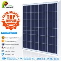 Powerwell Solar TUV,CE,SGS,CEC,IEC,ISO,OHSAS,CHUBB,INMETRO 105w polycrystalline solar panel photovoltaic modules