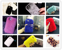 Luxury Bling Crystal Fox Rabbit Fur Case For iPhone 4 4S 5 5S 6S 6 Plus 5.5