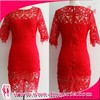 2014 Hot Design Red Lace Party Dress Lady Top Dress