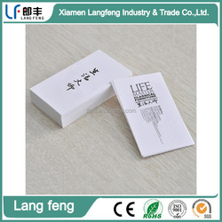 Custom personal contact information paper business cards