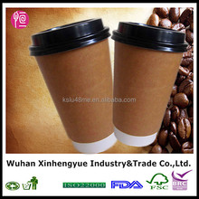12oz Double Wall Hot Coffee Paper Cup with Lid