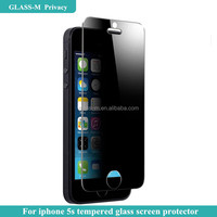 Tempered glass privacy screen protector mirror for iphone 5s