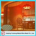 cortina de malha metálica / aço inoxidável tela de malha fina / cortina de malha de aço inoxidável