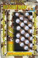 1.5'' 4 Breaks Boy Scout Troop Artillery Shells, 1.4G CONSUMER FIREWORKS SHELLS, CHEMICAL FORMULA FIREWORKS
