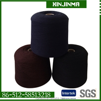 NM26/2 HB POLYESTER YARN BLACK COLOR GOOD QUALITY WITH CONES