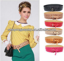 Fashion Women's Hollow Out Wide Waist Belts Adjustable Corset PU Leather Belt