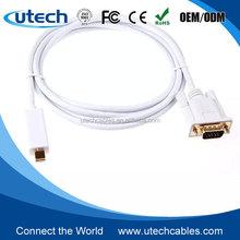 6ft Mini DP DisplayPort Thunderbolt Male to DVI VGA Cable for MacBook