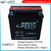 12v maintenance free battery for motorcycle/scooter from Chinese factory
