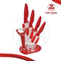 knife fork set 6pcs santoku ceramic knife set with peeler and bone cutting kitchen knife
