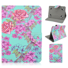 Colored Drawing Pattern Rose PU Leather Flip Stand Smart Case For iPad 2/3/4/Air Case
