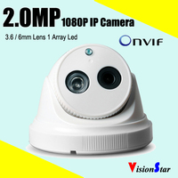 Mini ip security 1080p camera module 2mp onvif high resolution cmos sensor plastic dome ip digital camera day night vision