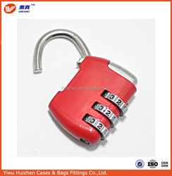 4 digital combinaiton code lock zinc alloy suitcase luggage lock