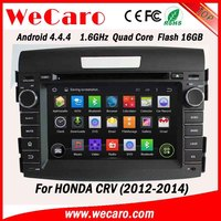 WECARO China Factory HD 1080P Pure Android 4.4.4 Car Navigation System For Honda CRV