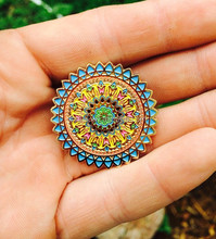 The Flower Mandala Lapel Pin Badge