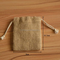 Wholesale Satin Lined Jute Jewelry Pouch Jute Bag