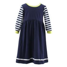 2015 newest child black go back school soft Cotton long sleeve girls dresses for 11 years