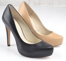 2015 New Style Lady High Heel Dress Shoe With Hidden Platform