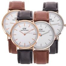 exquisite women men girl wrist watch vogue watch leather strap DW watch ODM