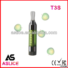 Aslice newest T3S clearomizer with 7 colors T3S atomizers