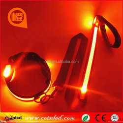 New Pet Dog Cat Reflective Nylon Night Safety LED dog collar and leash S M L Wholesale & Retail