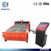 Unich high precision plasma cutting metal machine1530/small cnc plasma machine1300x2500mm/low cost cnc plasma cutting machine