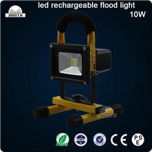 10W Portable LED Flood Light, Rechargeable, Li-ion Battery Powered