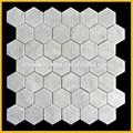 Carrara de Mármol blanco Hexágono, Calcuta mosaico de baldosas de mármol