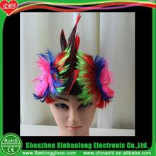 Synthetic Led Flashing Mohawk Wig