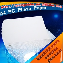 RC waterproof photo paper 260gsm glossy satin silky matte