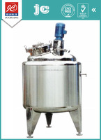 Sanitary grade vertical type enclosing liquid with suspended solids mixing tank stainless steel pharmaceutical jar