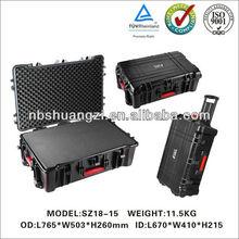 High Impact Case with Customized Foam Plastic Waterprooof Equipment Laptop Case
