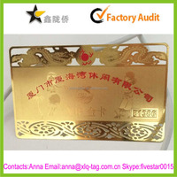 2015 Hight quality new design custom embossed metal business cards