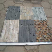 Natural rusty stacked slate culture stone tiles