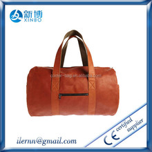 men business leather duffle traveling bag