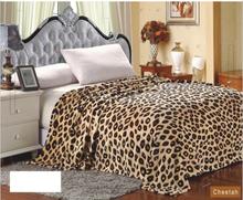 Extra Soft & Comy Micro Plush Cheetah Print Flannel Safari Blanket