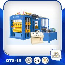 2015 Promotion Hydraulic Pressure concrete block machine with Top Quality QT8-15 hollow block making machine price