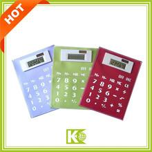 Promotional Foldable Calculators / Hot sale flexible rubber calculator solar power calculator foldable silicone calculator