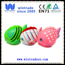 2015 novelty rubber tropical fish floating plastic babies bath toy