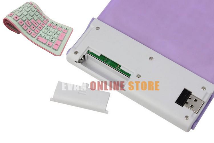 Электронные новые 2.4g беспроводной гибкие складные сведение водонепроницаемый силиконовая клавиатура для ПК ноутбук & s