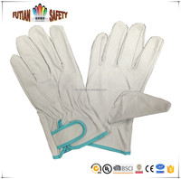 FTSAFETY high quality pig skin leather gloves with velcro cuff full palm Japan buyer