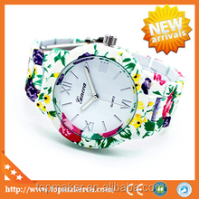 Teenage Fashion Geneva Print Spring Flower Womens Vogue Watch