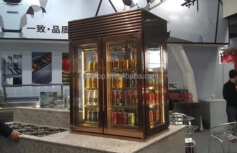 Shentop Stainless Steel Wine Refrigerator Double Doors