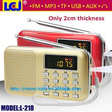 L-218 usb sd mp3 player with fm radio,mini fm radio mp3 player