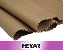 Brown 2/2 Woven Colored 98% Cotton 2% Spandex Double Side Stretch Twill Fabric