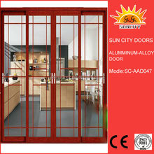 Balcony glass fixed double sliding door SC-AAD047