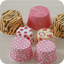 Round Paper PE coating Muffin cups Cupcake Baking Cups