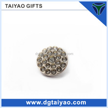 pretty rare round galvanized metal tray with handle